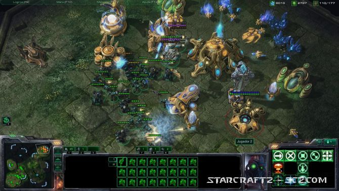 Estrategia Terran contra Rayos del Vacío