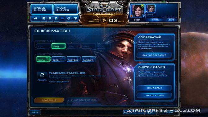Asignación de partidas en StarCraft 2