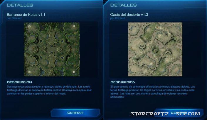 Cambios en los mapas de jerarquía de StarCraft 2