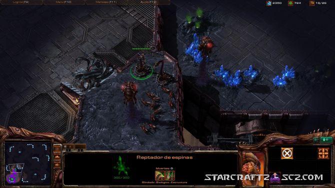 Estrategia defensiva Zerg en zonas elevadas