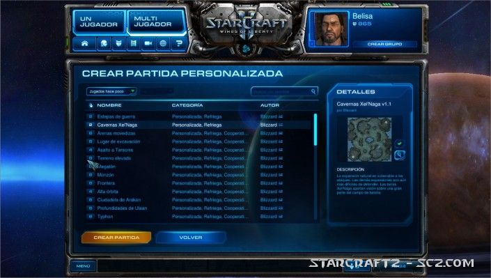 Tipos de partidas en StarCraft 2