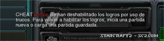 Trucos StarCraft 2