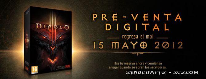 Diablo 3 a la venta el 15 de mayo